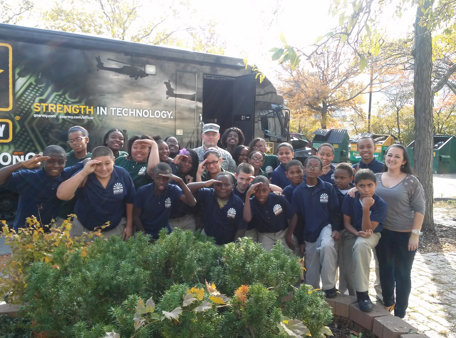 Students in 6th grade had the opportunity to visit the Army STEM truck that came to the HSA campus on Tuesday, October 29th.